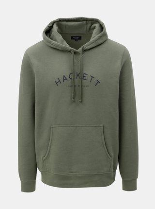Kaki classic fit mikina s kapucňou Hackett London