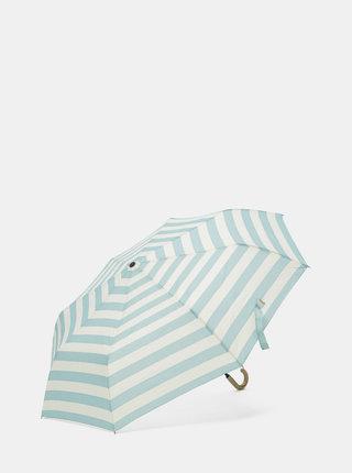 Umbrela crem-albastru in dungi Rainy Seasons