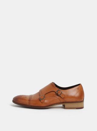 Pantofi barbatesti brogue maro din piele naturala London Brogues Wister Monk