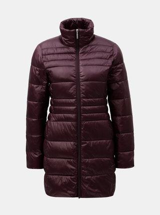 Vínový prešívaný kabát Dorothy Perkins