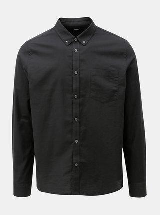 Černá košile s náprsní kapsou Burton Menswear London Oxford