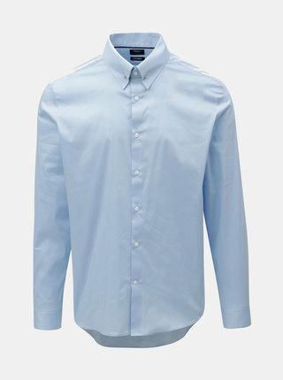 Svetlomodrá slim fit košeľa s detailom v striebornej farbe Burton Menswear London