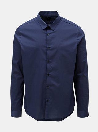 Tmavomodrá skinny fit košeľa Burton Menswear London