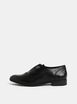 Pantofi negri cu aplicatie Tamaris