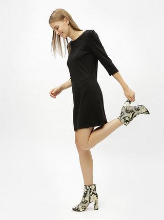 Černé šaty s 3/4 rukávem ONLY Brilliant