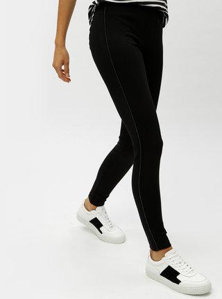 Černé kalhoty s pruhem na nohavicích VERO MODA Storm