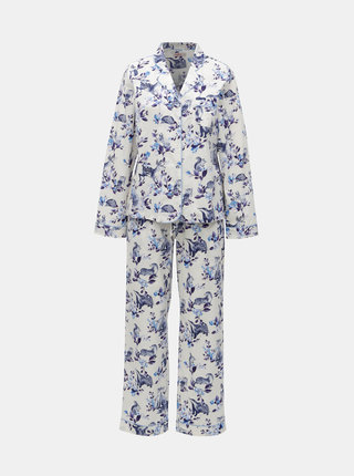 Modro-biele dámske vzorované dvojdielne pyžamo Cath Kidston