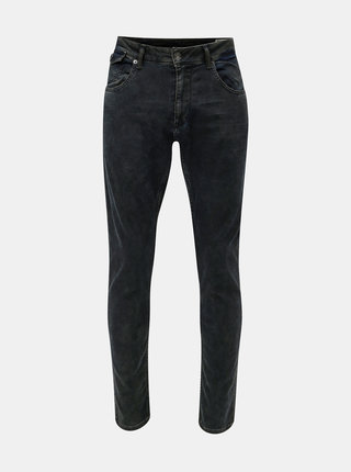 Blugi barbatesti albastru inchis tapered fit din denim Garcia Jeans