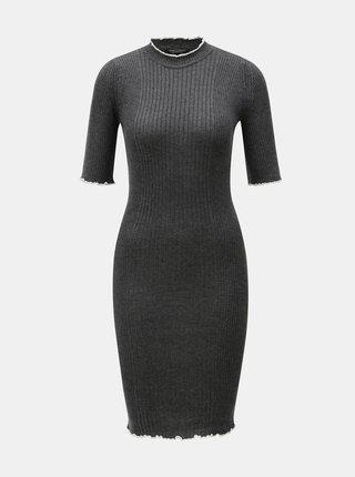 Tmavosivé svetrové šaty Dorothy Perkins