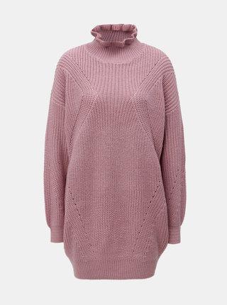 Staroružový dlhý sveter VERO MODA