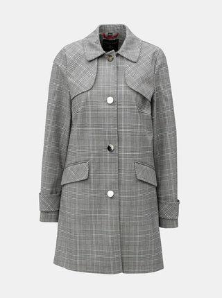Sivý károvaný kabát Dorothy Perkins