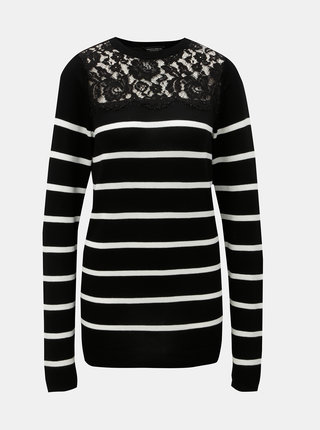 Pulover alb-negru in dungi Dorothy Perkins