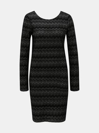 Čierne puzdrové šaty ONLY