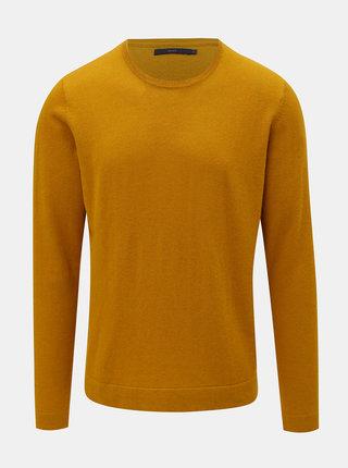 Žltý vlnený sveter SUIT Clyde