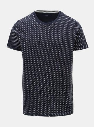 Tmavomodré vzorované tričko SUIT Bayswater