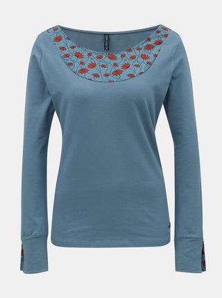 Modré tričko s dlhým rukávom Tranquillo Mia