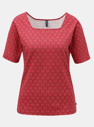 Červené vzorované tričko Tranquillo Indrani