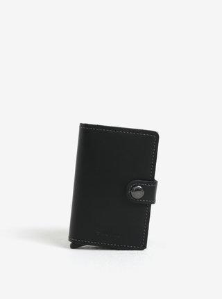 Čierna kožená peňaženka s hliníkovým puzdrom s RFID Secrid Miniwallet