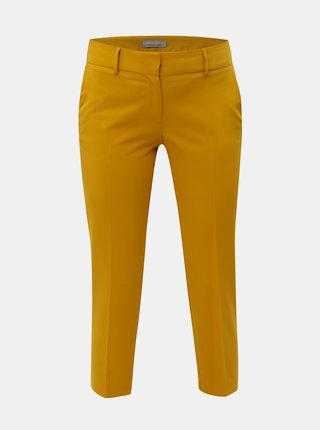 Horčicové nohavice s pukmi Dorothy Perkins Petite