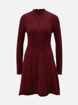 Vínové svetrové šaty ONLY Sonia