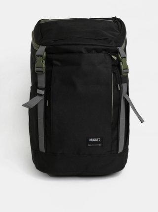 Rucsac negru cu detalii verzi NUGGET 35 l