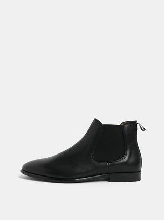 Černé pánské kožené chelsea boty ALDO