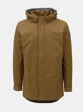 Hnedá zimná bunda s kapucňou ONLY & SONS Than