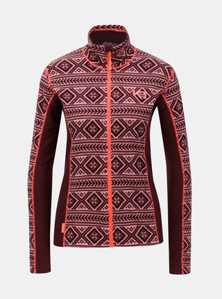 Bluza sport roz-bordo din fleece cu model Kari Traa