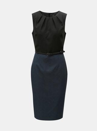 Čierno-modré puzdrové šaty s odnímateľným opaskom Dorothy Perkins