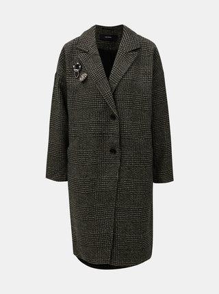 Khaki vzorovaný kabát s příměsí vlny VERO MODA North