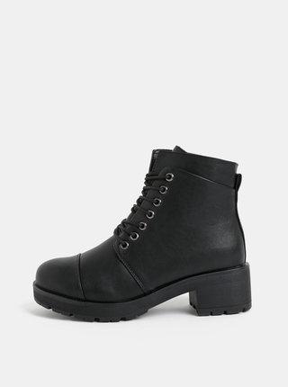 Čierne členkové topánky Pieces Dakota