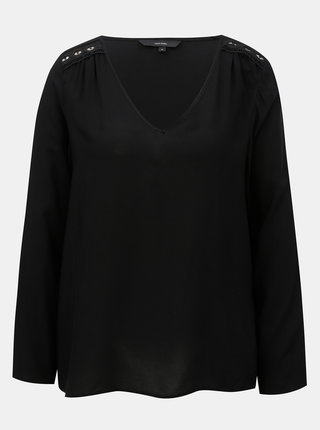 Čierna blúzka s čipkovanými detailmi VERO MODA Susan