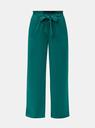 Zelené kalhoty se zavazováním v pase VERO MODA Genova