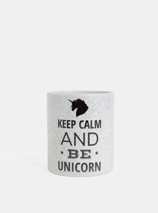 Cana alba cu text si motiv unicorn Butter Kings