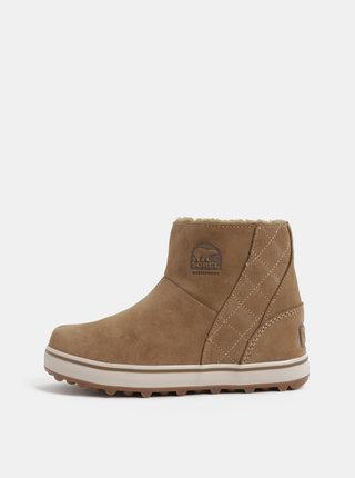 4502994e9372f Svetlohnedé dámske semišové zimné nepremokavé topánky SOREL Glacy Short