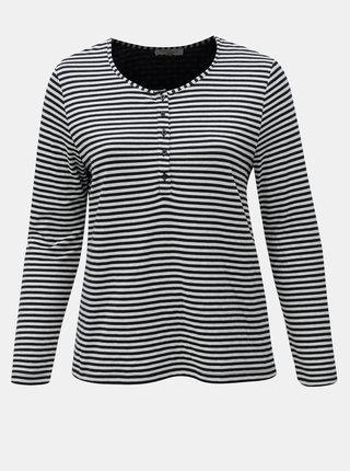 Krémovo-modré pruhované tričko Ulla Popken