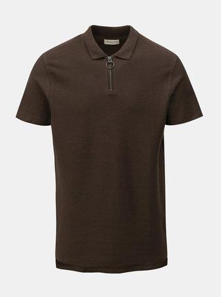 Khaki polo tričko Selected Homme
