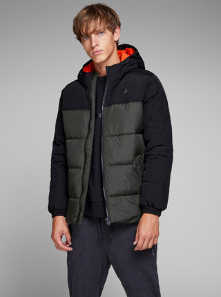Jacheta negru-verde matlasata Jack & Jones Cross