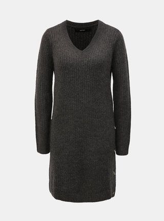 Sivé svetrové šaty VERO MODA Melisa