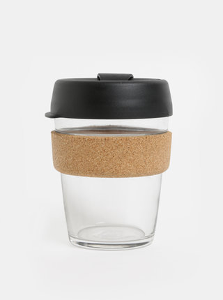 Cana neagra de calatorie din sticla KeepCup Brew medium 340 ml