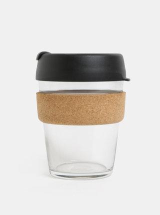 Černý skleněný cestovní hrnek KeepCup Brew medium 340 ml