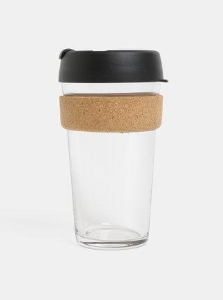 Čierny sklenený cestovný hrnček KeepCup Brew large 454 ml