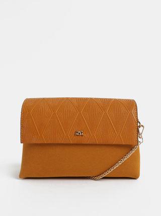 Oranžová crossbody kabelka v semišovej úprave Gionni