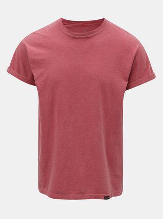 Tmavě růžové pánské basic tričko Mr. Sailor
