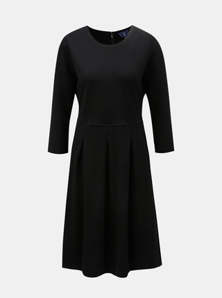 Černé šaty s 3/4 rukávem GANT