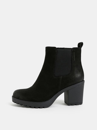 Čierne dámske kožené chelsea topánky Vagabond Grace