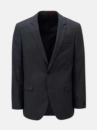 Tmavomodré oblekové sako s drobným vzorom Burton Menswear London