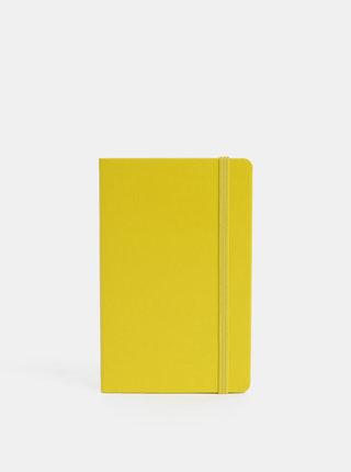 Žlutý linkovaný mini zápisník s pevnou vazbou Moleskine A6
