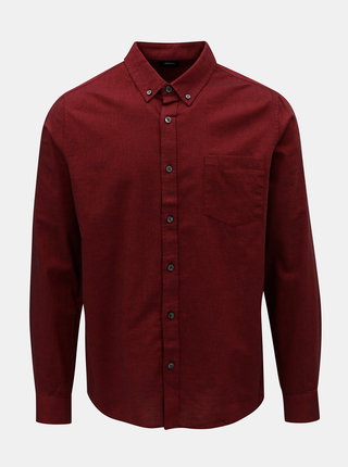 Camasa bordo cu model discret Burton Menswear London