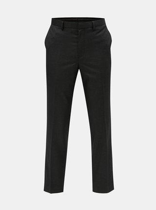 Tmavosivé spoločenské nohavice s drobným vzorom Burton Menswear London
